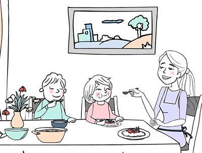 oppas koken avondeten