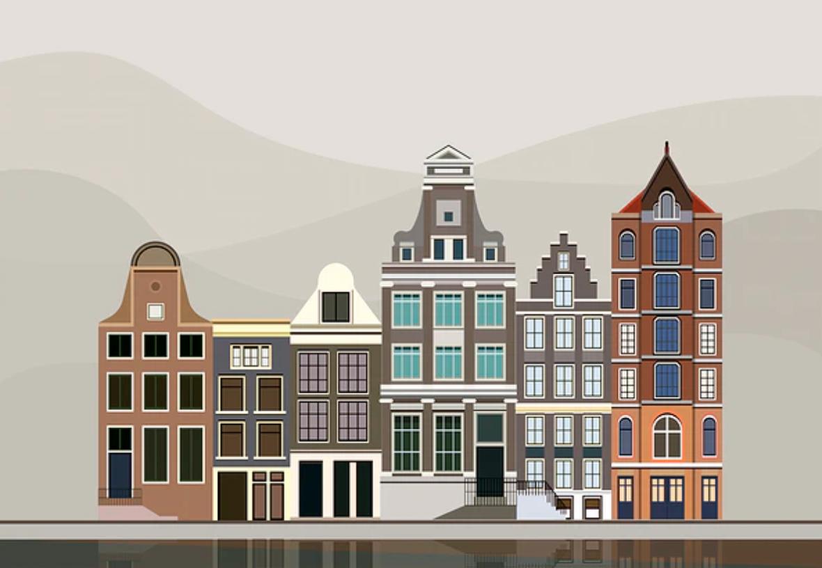 Amsterdamse huisjes au pair uitwisseling uitje bezoek aan stad amsterdam met de au pairs