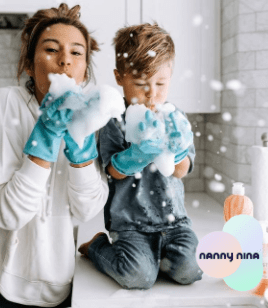 Au pair blowing soap bubbles au pair agency Nanny Nina find the best host family for you!