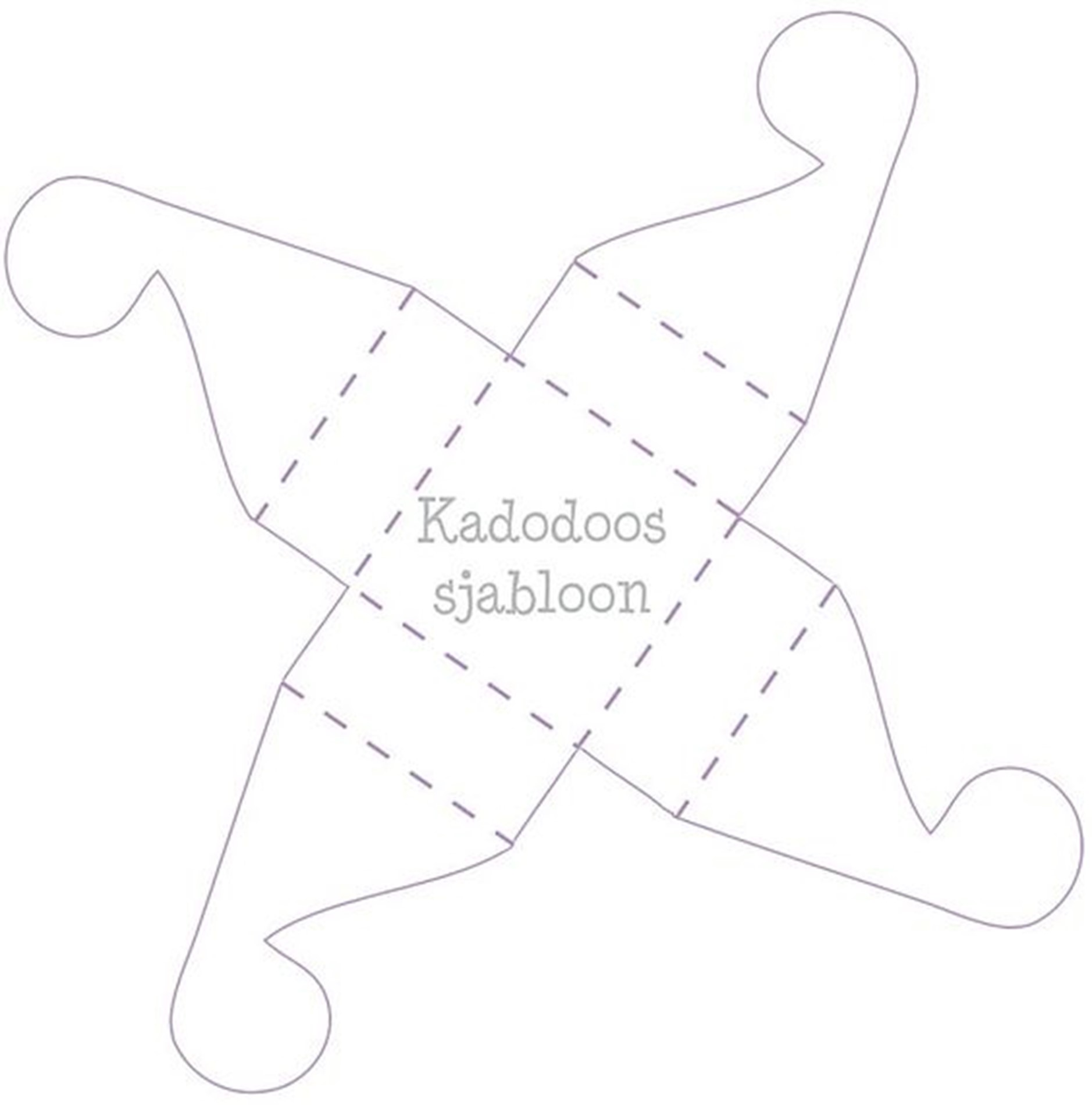 Sjabloon knipblad voor een cadeaudoosje voor in de stoomboot van Sinterklaas