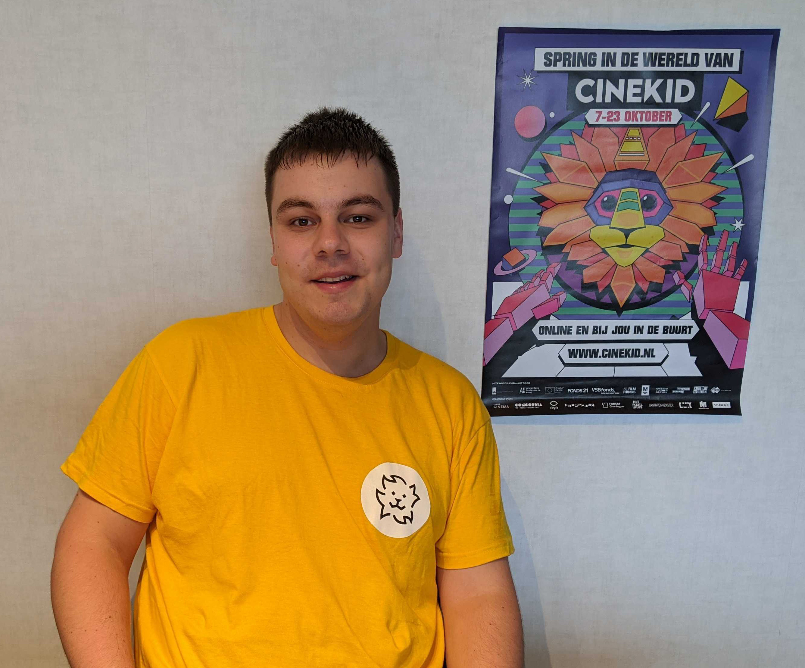 Vrijwilliger Tom bij Cinekid